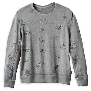Disney Mens Pullover Top - Mickey Mouse & Friends - Ink & Paint