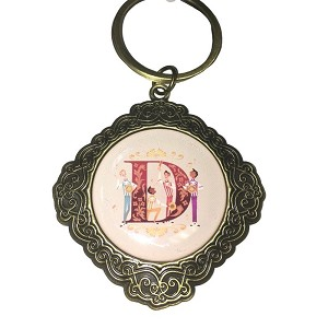 Disney Keychain Keyring - Initial Mickey Mouse - D Is For Dapper Dans