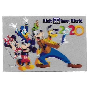 Disney Postcard - 2020 Mickey and Friends - Lenticular