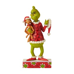 Universal Grinch by Jim Shore - Grinch Holding Max