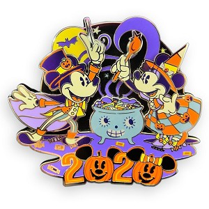 Disney Pin - Happy Halloween 2020 - Mickey and Minnie Mouse Trick or Treat