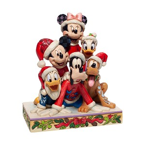 Disney Traditions by Jim Shore - Christmas Mickey and Friends Pyramid