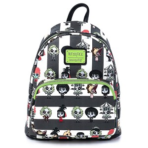 Universal Loungefly Mini Backpack - Beetlejuice Chibi Characters AOP