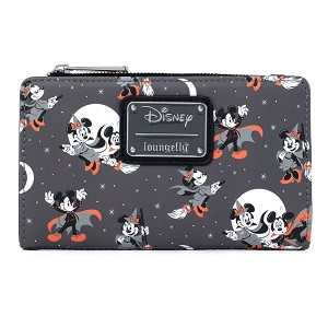 Disney Loungefly Wallet - Minnie and Mickey Halloween AOP