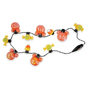 Disney Parks Light Up Necklace - Halloween 2020 - Mickey Mouse Pumpkins