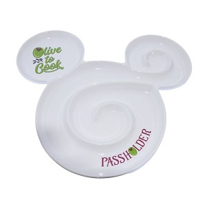 Disney Glass Serving Plate - EPCOT International Food and Wine Festival 2020 - Mickey Icon - Passholder