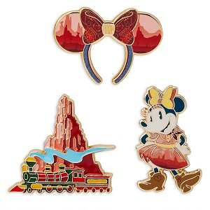 Disney Pin Set - Minnie Mouse Main Attraction - Big Thunder Mountain Railroad