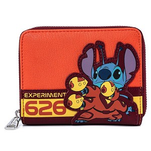 Disney Loungefly Wallet - Lilo and Stitch Experiment Cosplay Zip Around