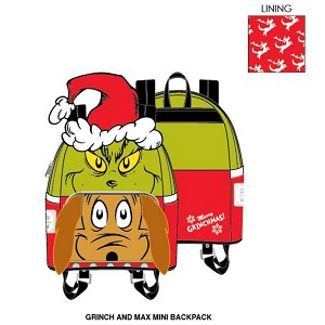 Universal Loungefly Backpack - Christmas Grinch and Max Mini Backpack