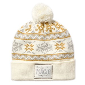 Disney Knit Hat - Mickey Mouse Silver and Gold - Snowflakes