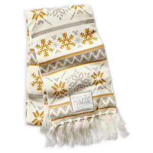Disney Knit scarf - Mickey Mouse Silver and Gold - Snowflakes