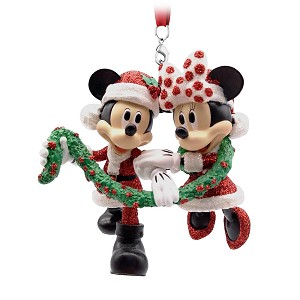 Disney Christmas Ornament - Figural Ornament - Mickey and Minnie Mouse - Garland