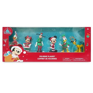 Disney Figure Playset - Mickey Mouse and Friends Holiday Figure Play Set