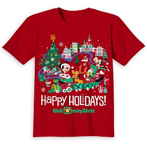 Disney CHILD Shirt - Walt Disney World Mickey and Pals Holiday Tee