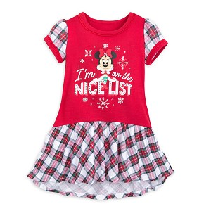 Disney Girls Nightshirt - Santa Minnie I'm on the Nice List