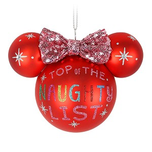 Disney Christmas Ornament - Ears Icon - Minnie Mouse - Naughty
