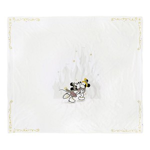 Disney Throw Blanket - Silver and Gold Holiday Collection - Mickey and Minnie Mouse