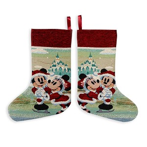 Disney Tapestry Stocking - Holiday Mickey and Minnie Mouse