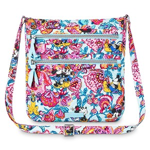 Disney Vera Bradley - Mickey's Colorful Garden Triple Zip Hipster