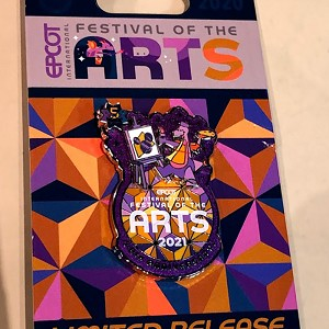 Disney Pin - Epcot Festival of the Arts 2021 - PASSHOLDER - Figment