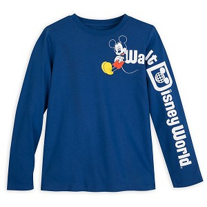 Disney Youth Shirt - Walt Disney World Logo - Mickey Mouse