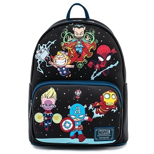Disney Loungefly Mini Backpack - Marvel Skottie Young Chibi Group