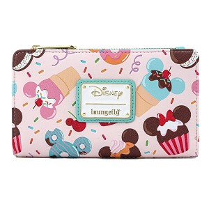 Disney Loungefly Wallet - Mickey and Minnie Mouse Sweet Treats Flap Wallet