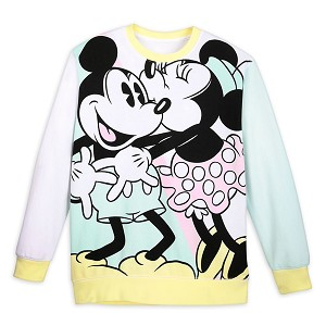 Disney Women's Pullover Shirt - Pastel - Mickey and Minnie