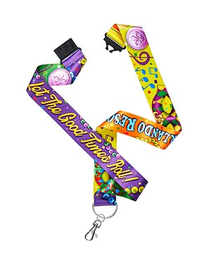 Universal Orlando Lanyard - Mardi Gras - Let The Good Times Roll