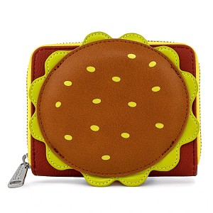 Loungefly Wallet - Spongebob Plankton Krabby Patty Zip Around Wallet
