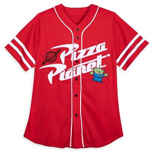 Disney Adult Shirt - Baseball Jersey - Toy Story Alien - Pizza Planet