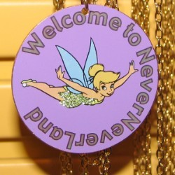 Disney Necklace - Tinker Bell - Welcome Never Neverland