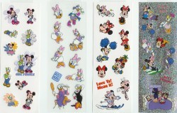 Disney Stickers 4 Strips - Minnie & Daisy - Best Friends