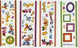 Disney Stickers 4 Strips - Mickey & Friends – Frames