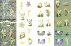 Disney Stickers 4 Strips - Tinker Bell Spring Blossoms