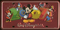 Disney License Plate - 2007 Logo