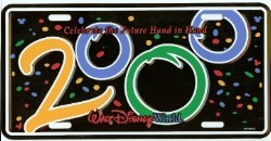 Disney License Plate - 2000 Logo