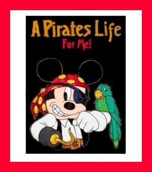Disney Flag Banner - Mickey Mouse - A Pirates Life For Me