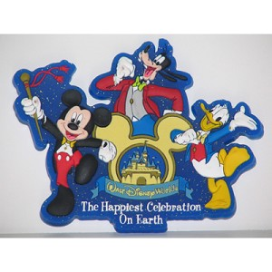 Disney Magnet - Happiest Celebration on Earth Mickey Mouse and Pals