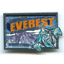 Disney Everest Pin - Beware of the Yeti Postcard