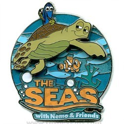Disney Logo Pin - The Seas with Nemo and Friends