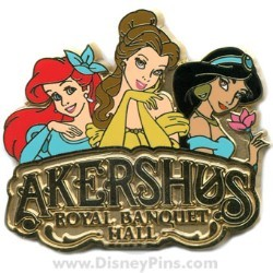 Disney Akershus Royal Banquet Hall Pin - Ariel, Belle and Jasmine