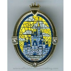 Disney Cinderella Castle Pin - Window - Walt Disney World Resort
