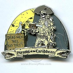 Disney Pirates of the Caribbean Pin - Attraction - Skeleton on Beach