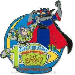 Disney Buzz Lightyear's Space Ranger Spin Pin - 10th Anniversary