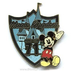 Disney Magic Kingdom Pin - Retro Opening - Mickey Mouse