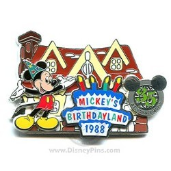 Disney 35 Magical Milestones Pin - 1988 - Mickey's Birthdayland Opens