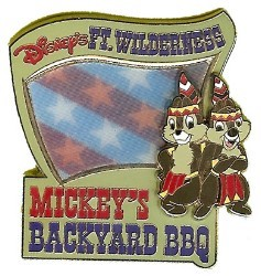 Disney Resort Pin - Mickey's Backyard BBQ - Chip n Dale