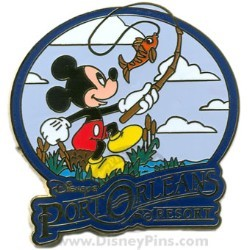 Disney Resort Pin - Disney's Port Orleans - Mickey Mouse