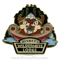 Disney's Wilderness Lodge Resort Pin - Chip & Dale